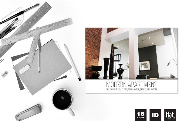 indesign modern apartment brochure
