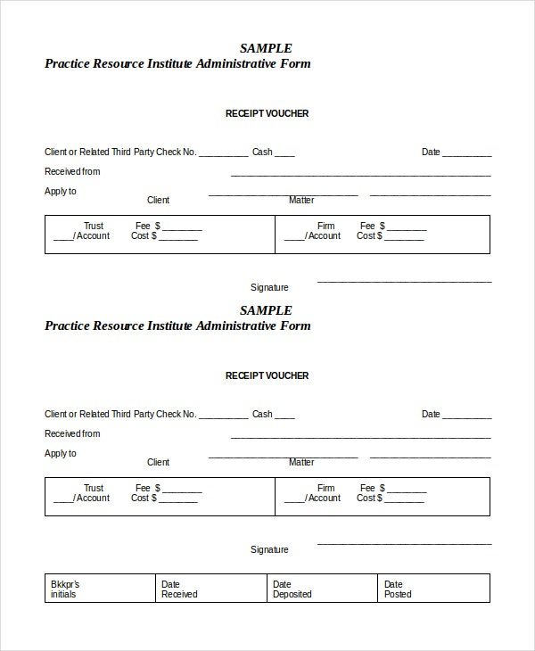 Great Receipt Voucher Template