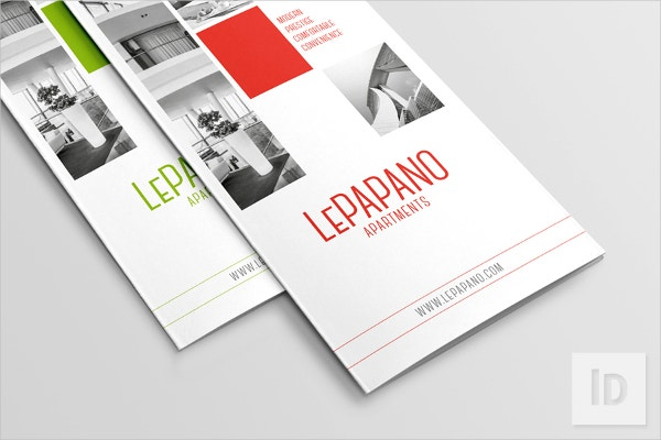 Flat Collage Apartment Tri-fold Brochure