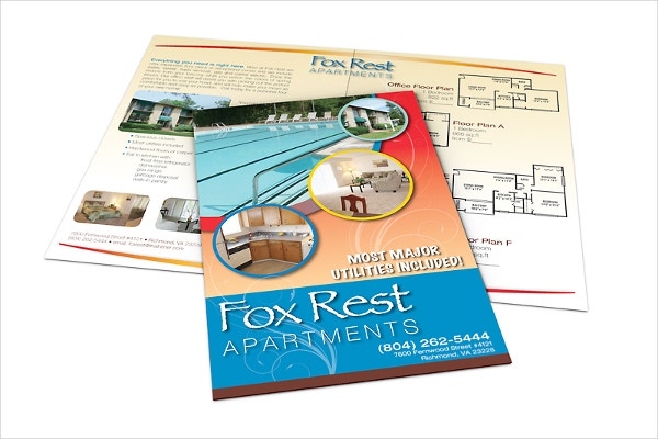 apartment marketing tri fold brochure