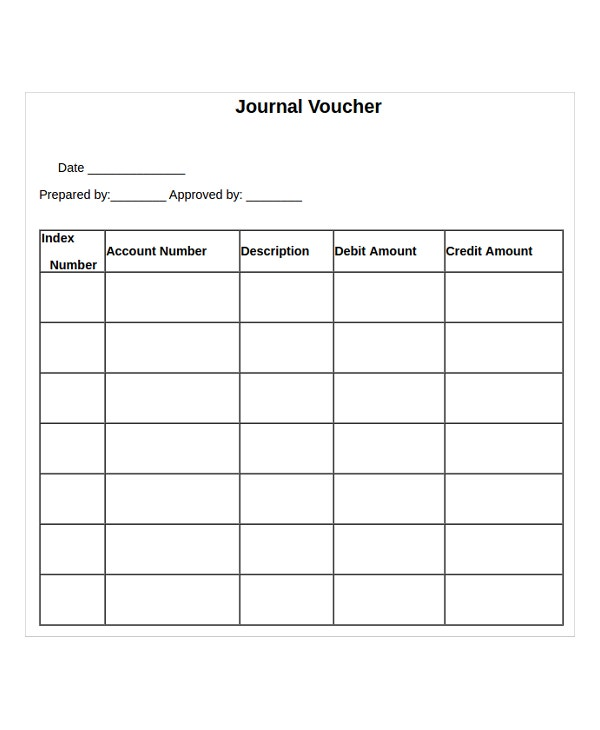 journal voucher template