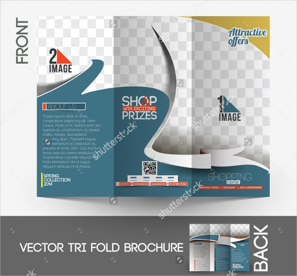 shopping center tri fold brochure template
