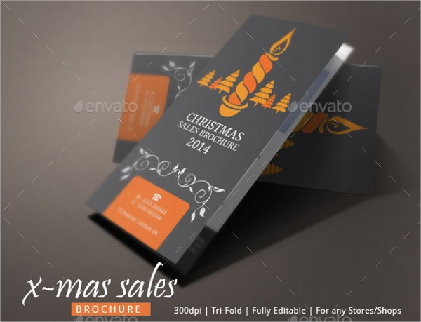 Christmas Sales Brochure Template