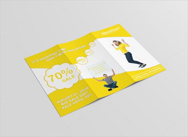 tri fold shopping sale brochure