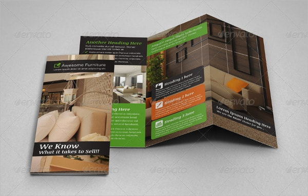 product sale trifold brochure template