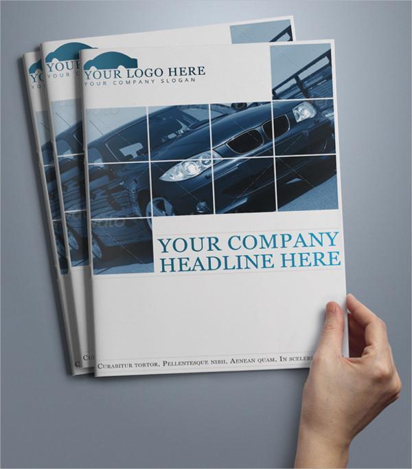 car brochure template