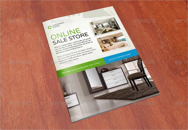 sale promotion bifold brochure template