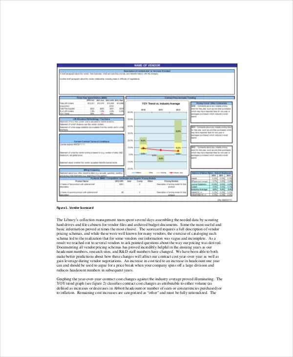 Vendor Scorecard Template – 8+ Free Excel, PDF Documents Download ...
