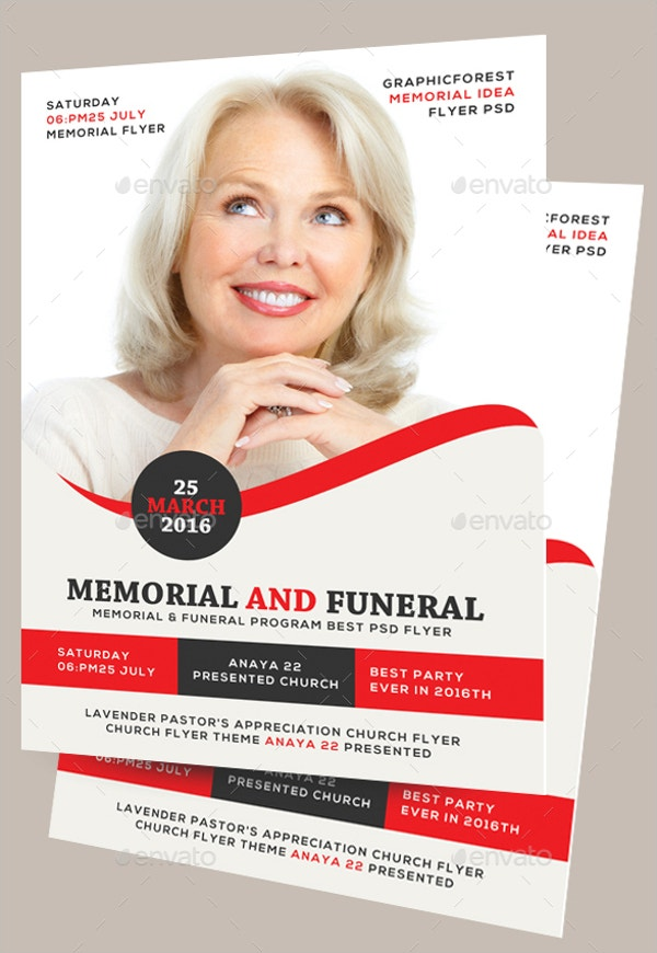 Memorial U0026 Funeral Program Flyer  Funeral Flyer Template