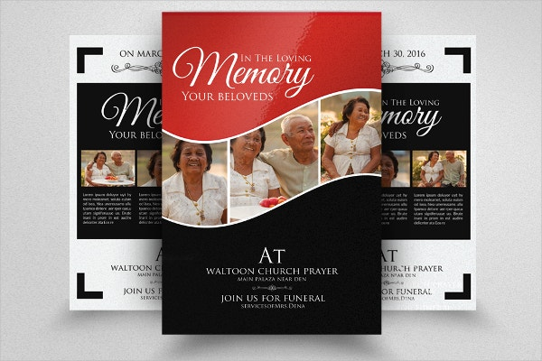 Double Sided Memory Funeral Flyer