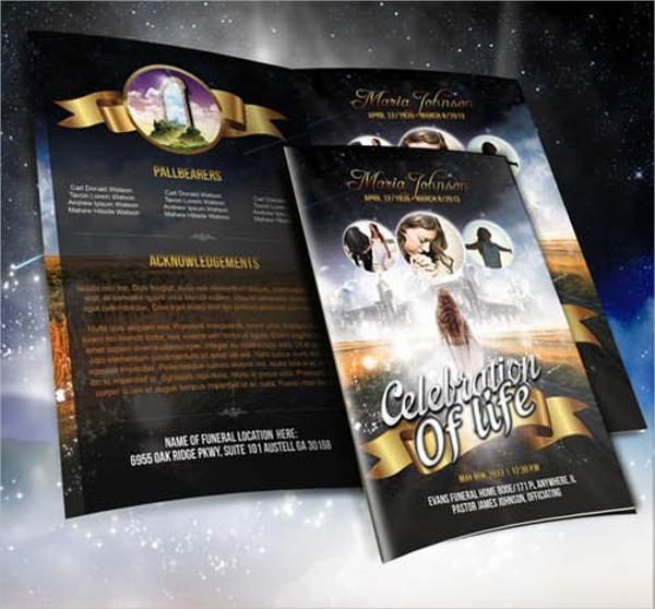 funeral program brochure flyer