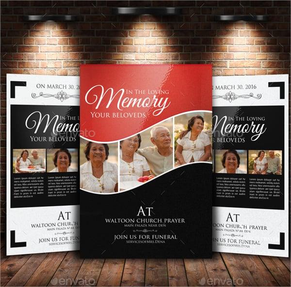 memory funeral program bundle