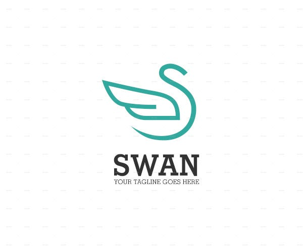 abstract swan logo