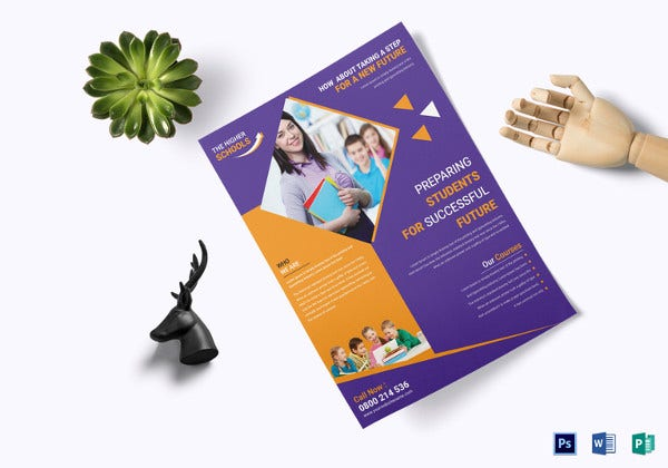 advanced higher school education flyer template