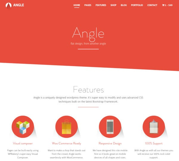 angle flat responsive bootstrap multipurpose theme