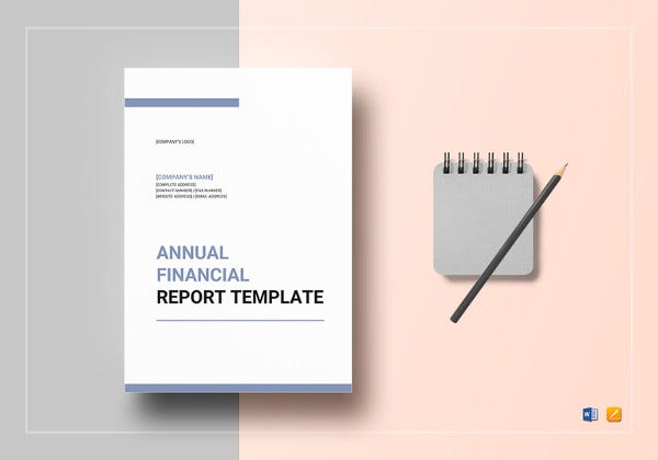 annual financial report template download