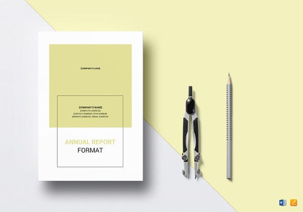 annual report template in ipages