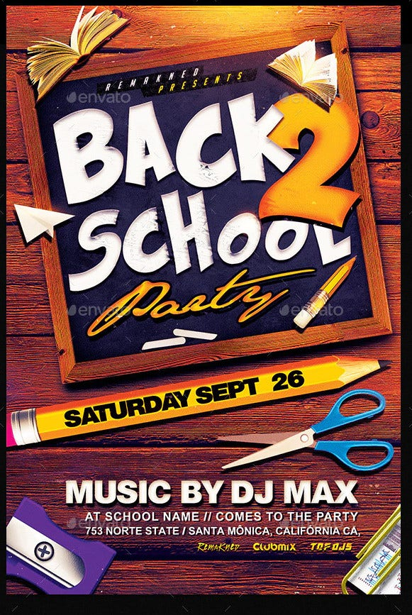 back to school psd flyer1