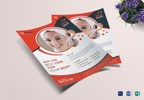 beauty care flyer template