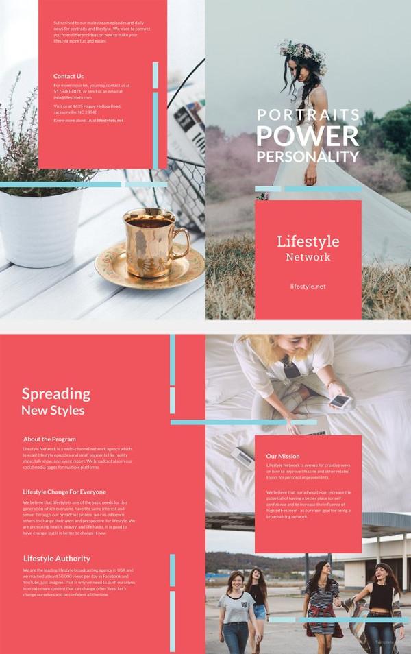 bifold brochure template