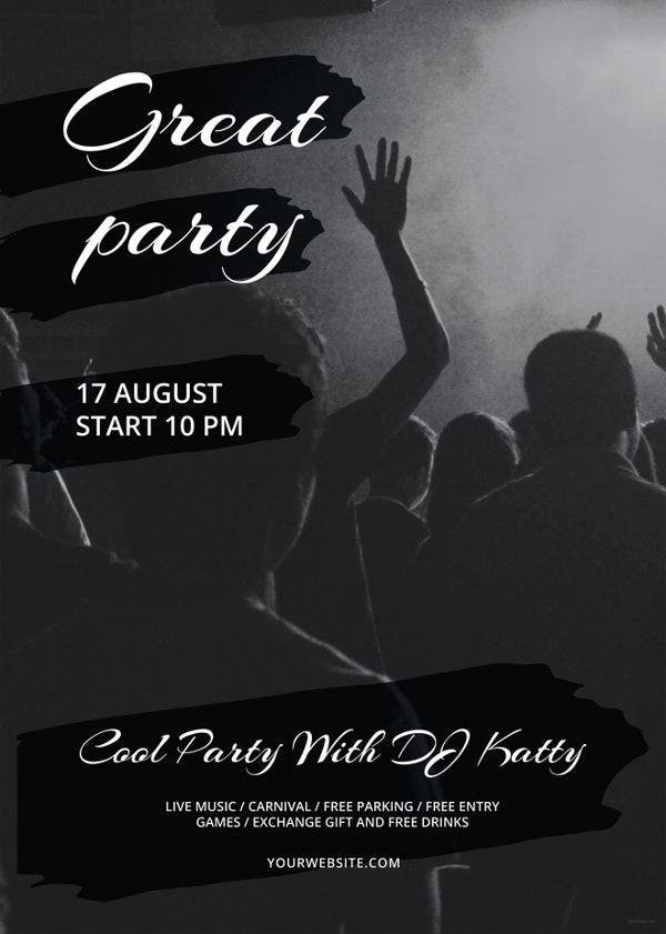 38 party flyer templates free psd ai eps format download black and white party flyer template saigontimesfo