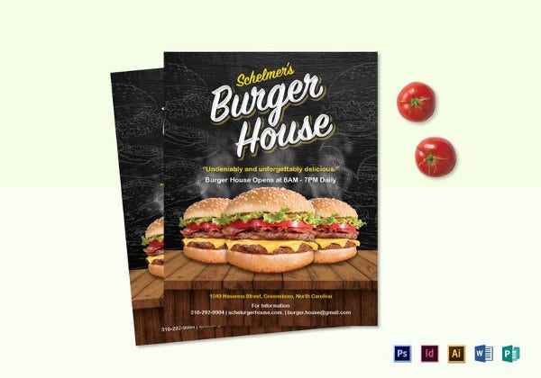 burger house flyer template