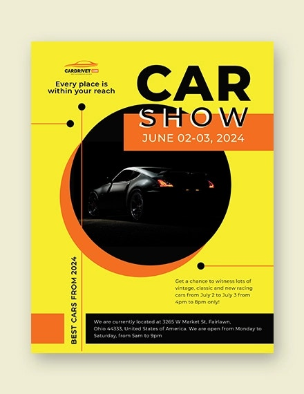 car show flyer template1