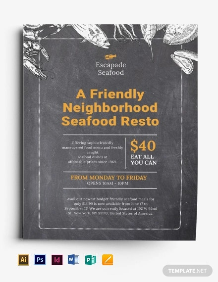 chalkboard flyer template3