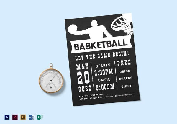 chalkboard-style-basketball-flyer-template
