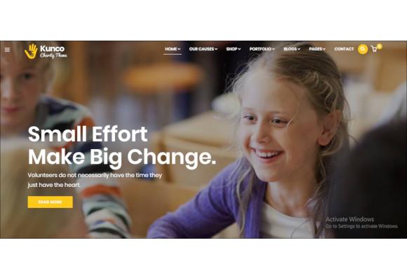 charity fundraising wordpress theme