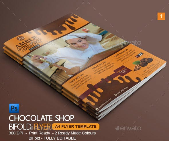 chocolate bi fold brochure
