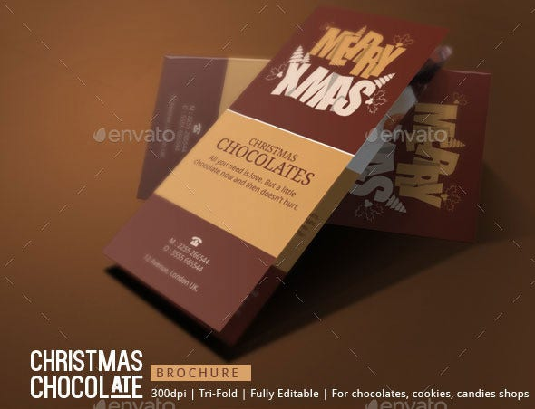 christmas chocolates brochure template1