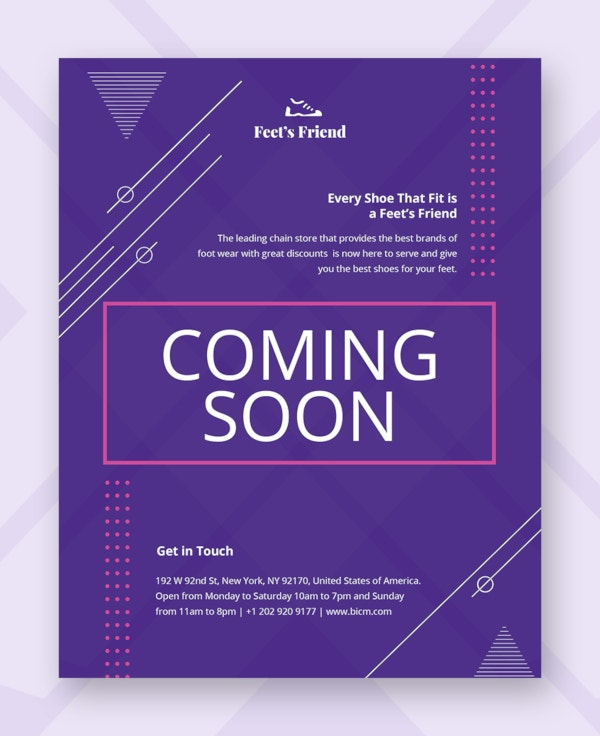 coming soon flyer template1
