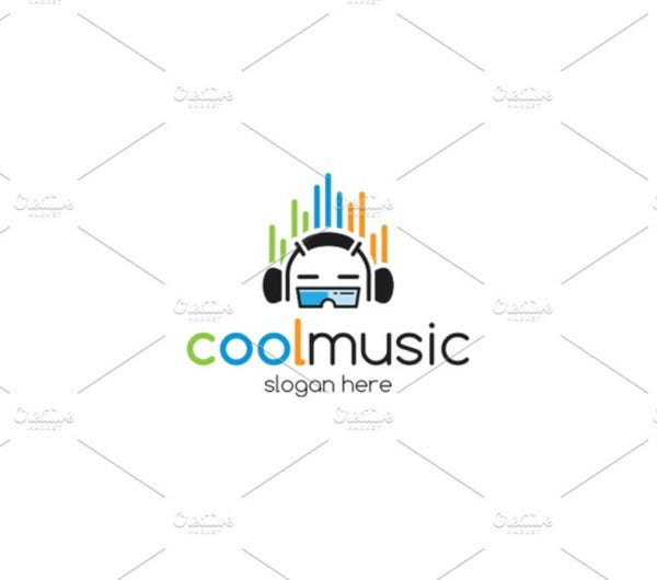 cool music logo template