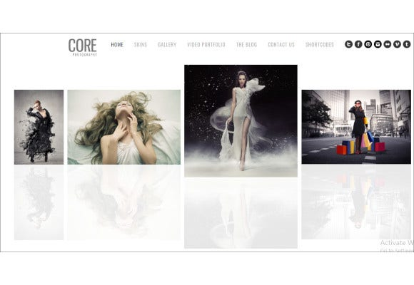 core minimalist photography portfolio template