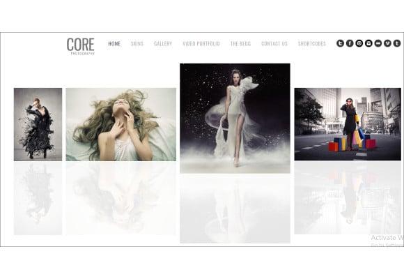 core minimalist photography portfolio template