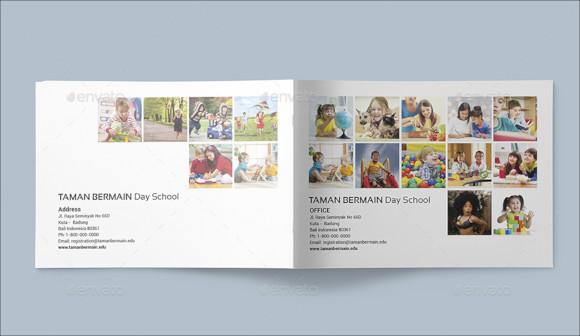 creative preschool brochure template