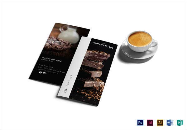 dark chocolate brochure design template1