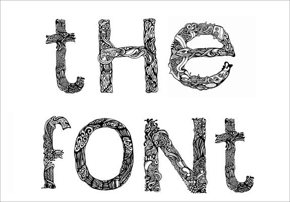decorative design font