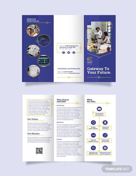die cut tri fold brochure template
