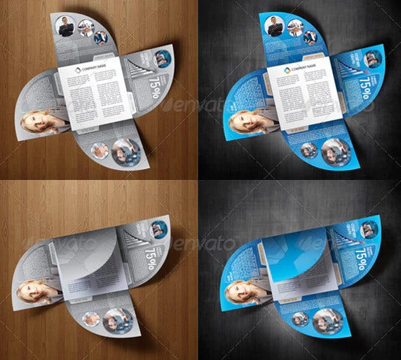 4 Die Cut Brochures Free Psd Ai Eps Format Download