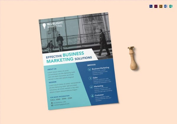 editable marketing flyer template