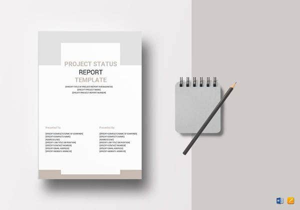 editable project status report template