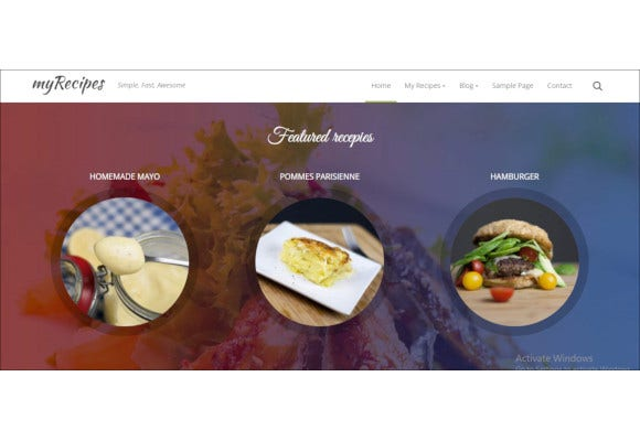 elegant recipes wordpress theme