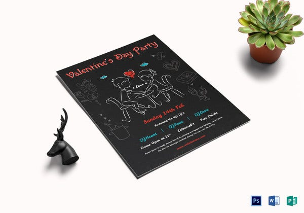 elegant valentines day flyer template