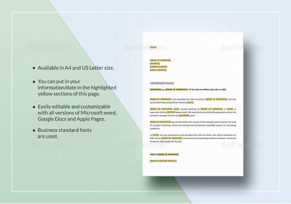 acquisition press release template - 19 press release templates free sample example format
