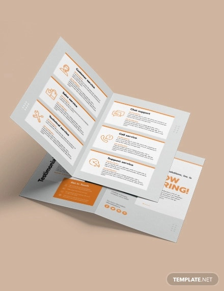 employee recruitment bi fold brochure template