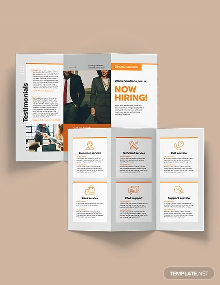 employee recruitment tri fold brochure template