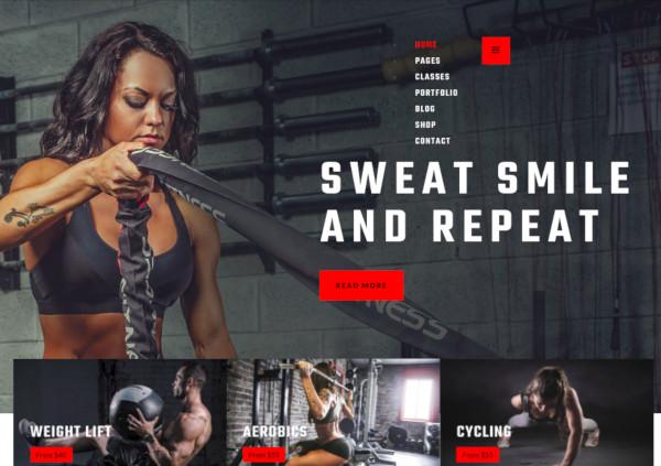fitness gym joomla template