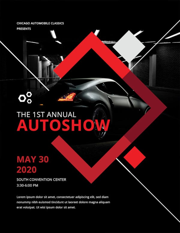 free car show flyer